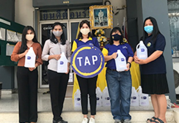TAP Group Donates 70% Alcohol to SAO of Sai Yai and Rat Niyom  to Distribute to the Communities and Covid-19 Screening Checkpoint in Nonthaburi