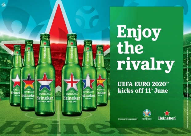 """Heineken, the official partner of UEFA EURO 2020™ kicks-off the """"Enjoy the Rivalry"""" campaign offering an enhanced experience when watching UEFA EURO 2020™"""